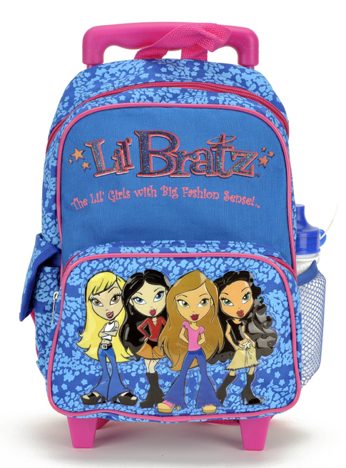 Bratz Toddler Rolling Backpack in Blue Color