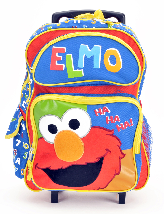 "Elmo 16"" Large Rolling Backpack (05458)"