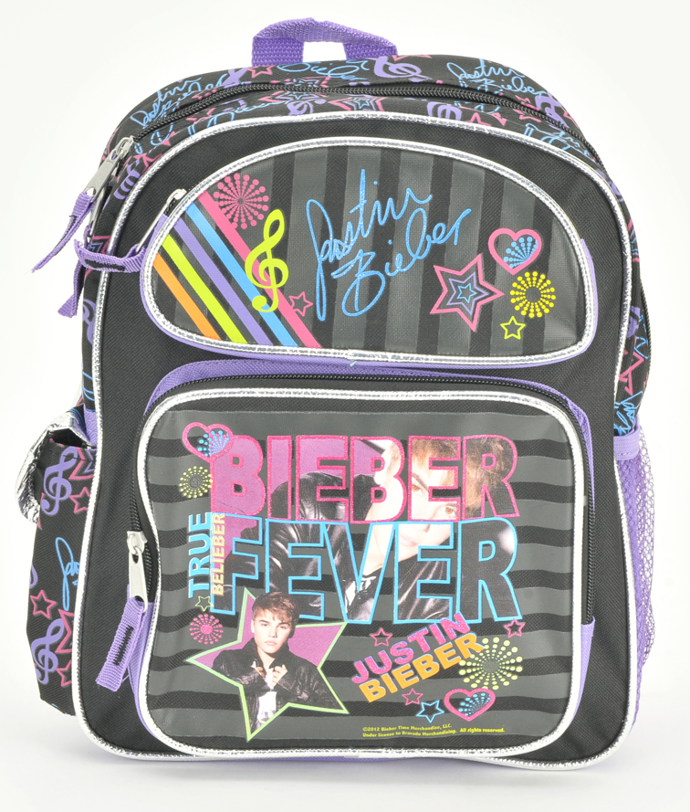 "Justin Bieber 14"" Toddler Backpack (05472)"