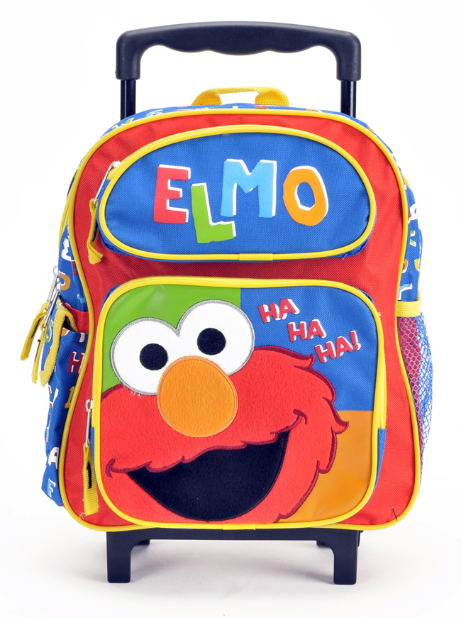 "Elmo 14"" Toddler Rolling Backpack (05578)"