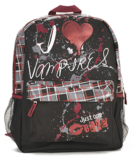Colorful Large Backpack with Vampires Theme