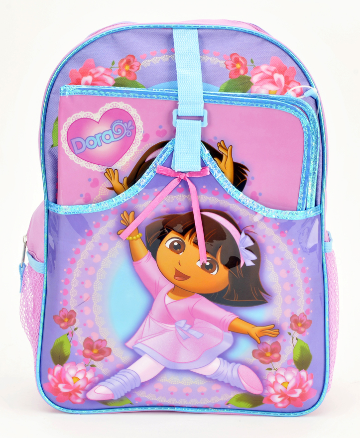 "Dora 16"" Large Backpack with Folder (33288)"