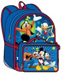 Mickey and Friends Large Backpack with Detachable Lunch Bag #Mk5