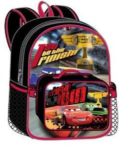 Cars Large Backpack with Detachable Lunch Bag (50508/24)