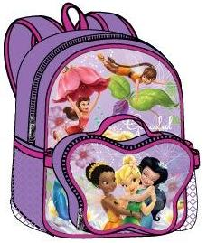 Tinkerbell Large Backpack with Detachable Lunch Bag (50509/24)
