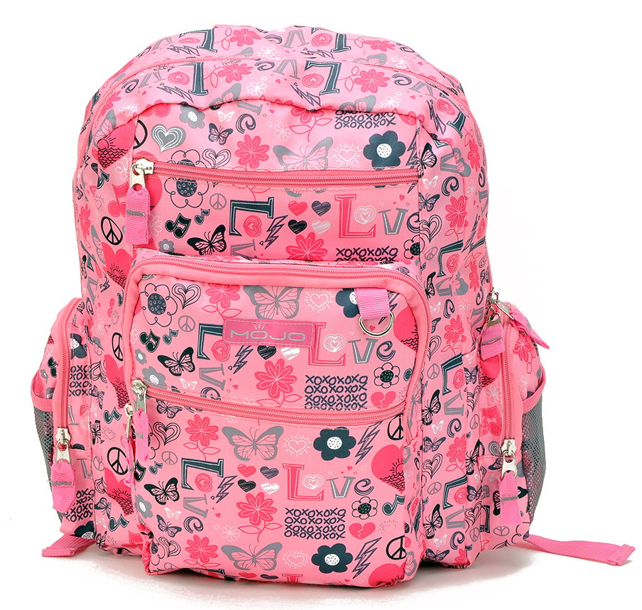 Stylish Pink Large Backpack (80519)
