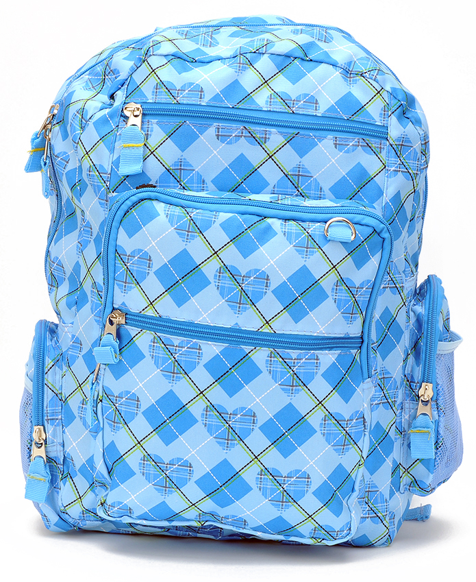 Stylish Light Blue Large Backpack (80538)