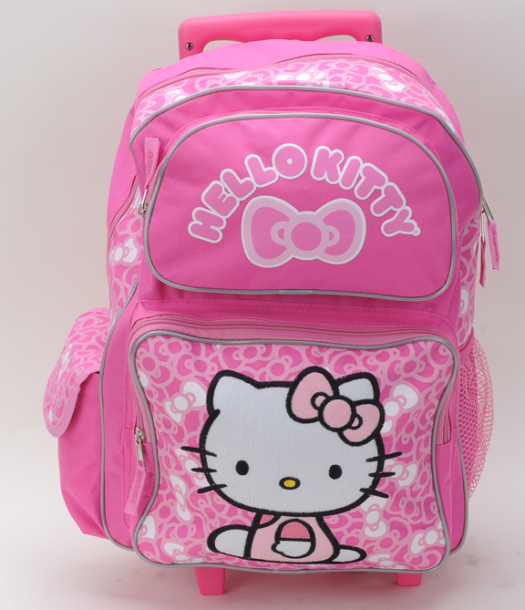 "Hello Kitty Bow 12"" Rolling Backpack  (81127/6)"
