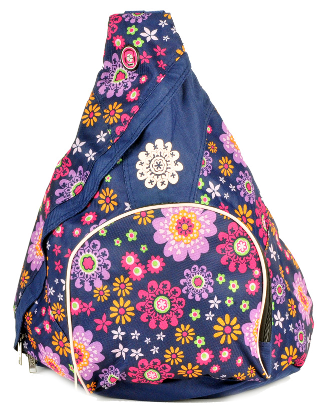 Fashion Design Triangle Casual Backpack (85440) in Blue Color