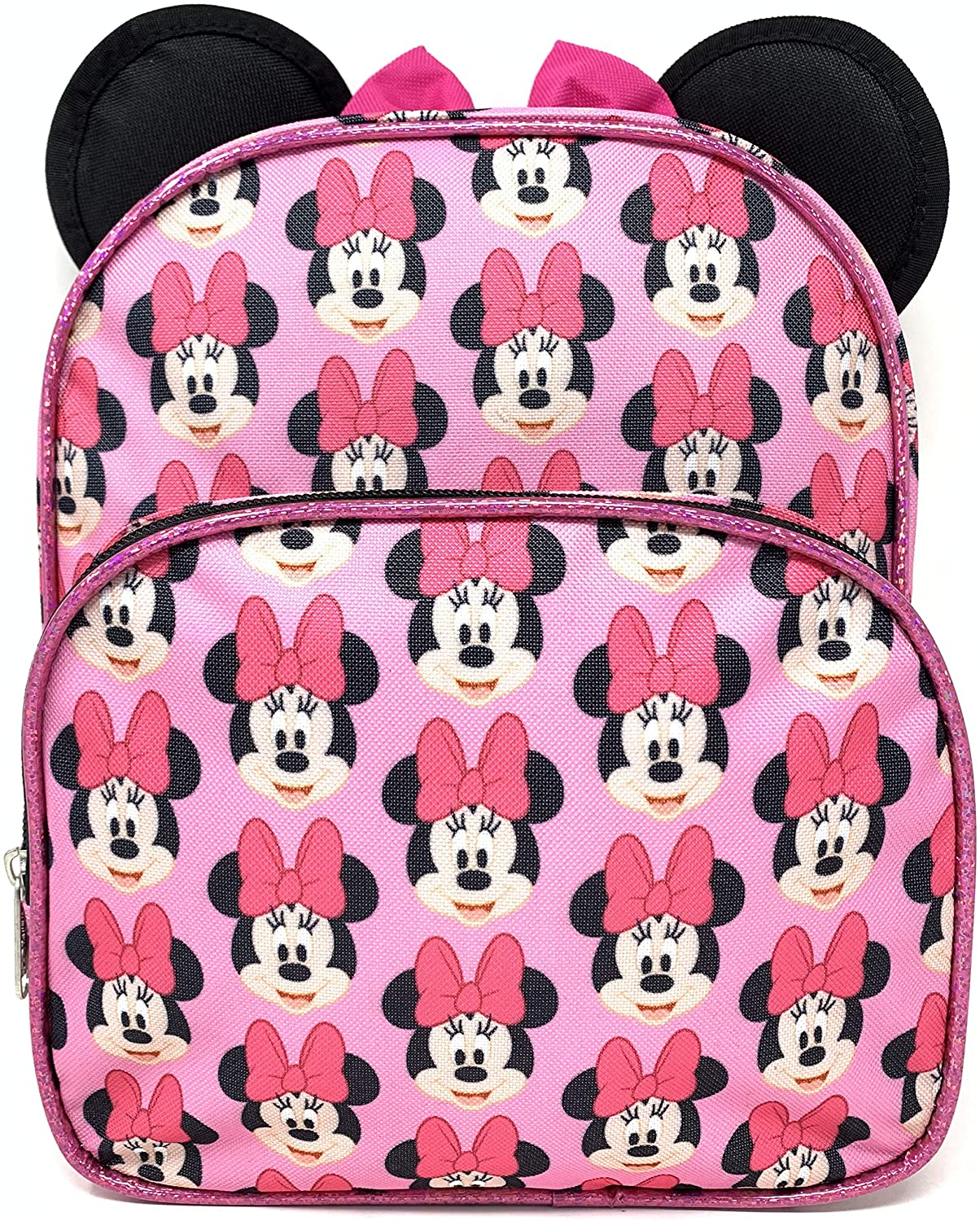 "Disney 3D Minnie Mouse 10"" All Over Mini Backpack"