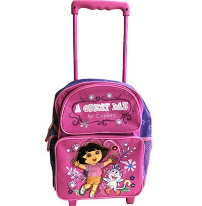 "Dora 16"" Large Rolling Backpack/ a Great Day"