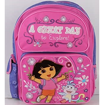 "Dora the Explorer Medium Backpack A Great Day 14"" Pink"