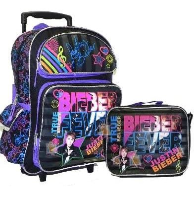 "16"" Justin Bieber True Belieber Rolling Backpack"
