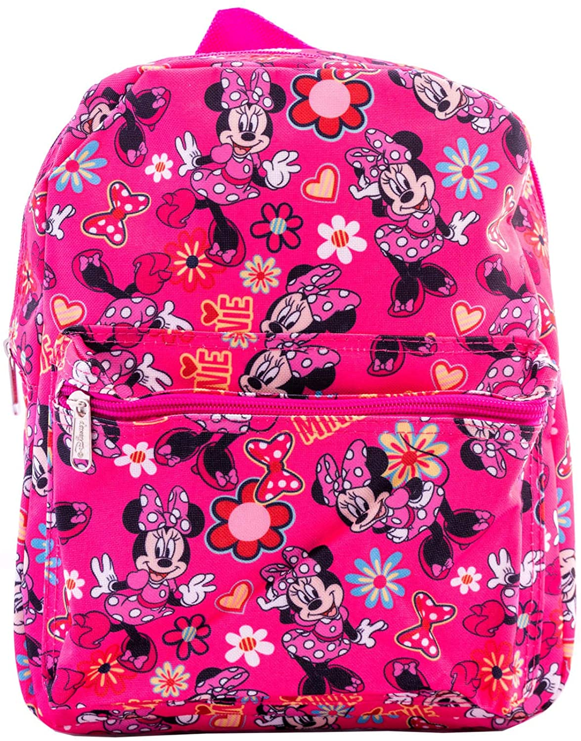 "Disney Minnie Mouse Kids 12"" Backpack w/ Little Minnie Pattern P"
