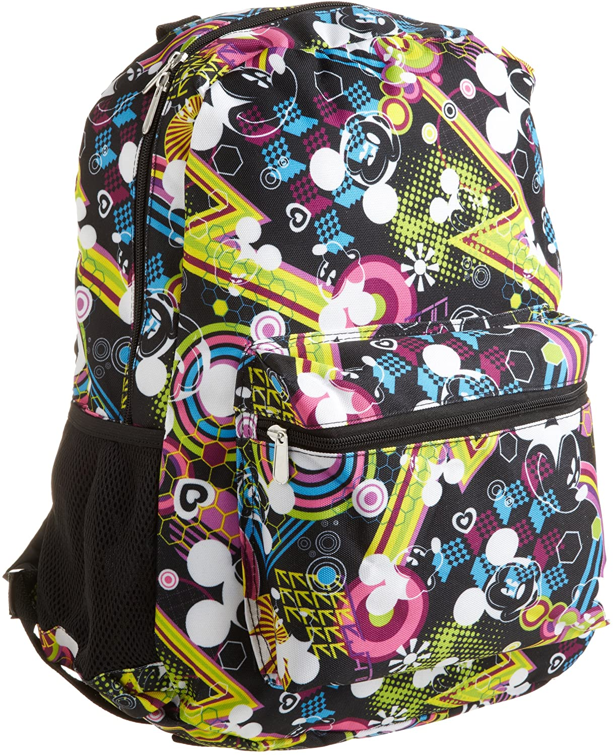Disney Big Girls' Allover Mickey Pop Print Backpack - Black