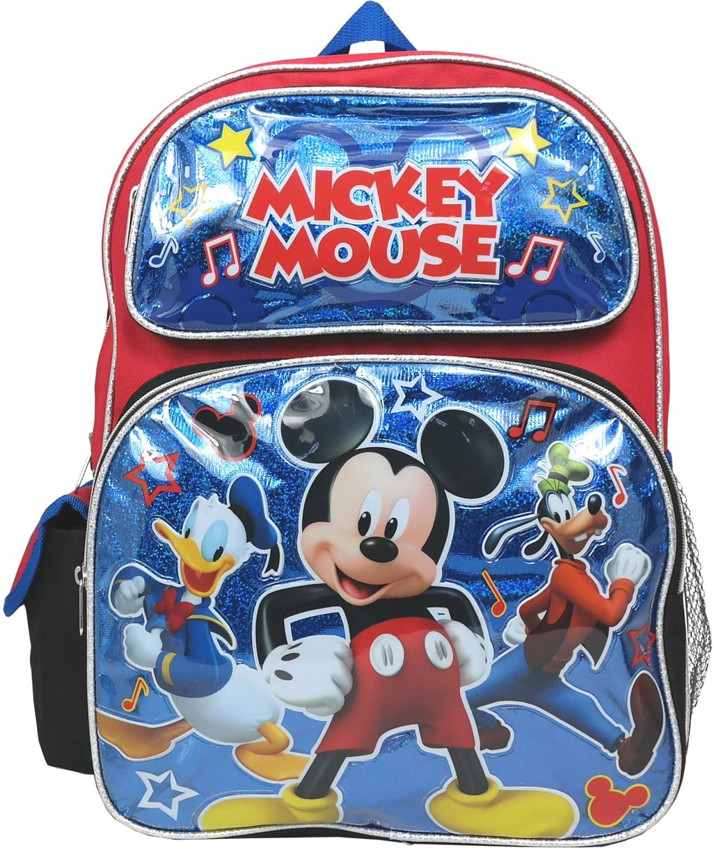 Mickey Mouse w/ Donald and Goofy 16 Inch Large Backpack