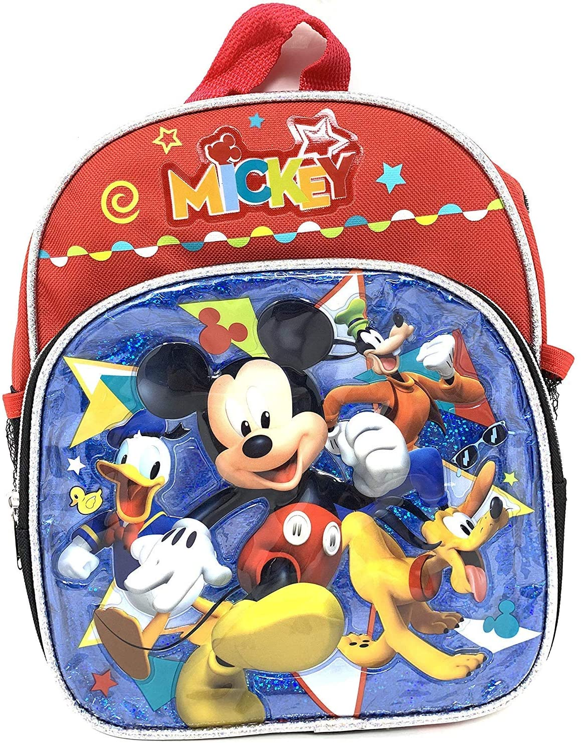 "Disney Mickey Mouse w/ Friends 10"" Toddler X-Small Backpack"