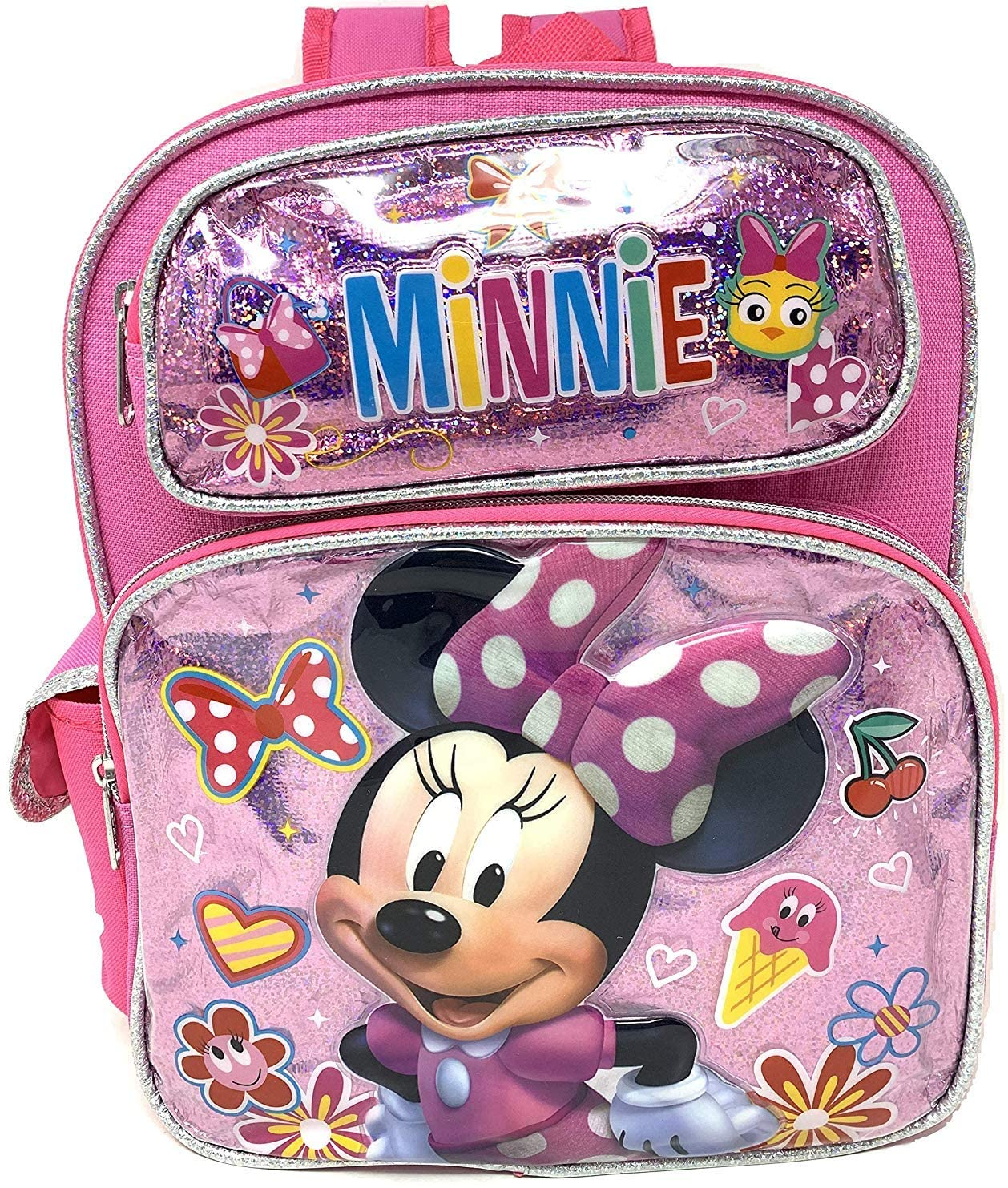 "Disney Minnie Mouse 12"" Toddler Small Backpack (Pink)"