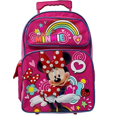 "Junior Minnie Mouse Girl's 16"" Roller/Rolling Large Backpack"
