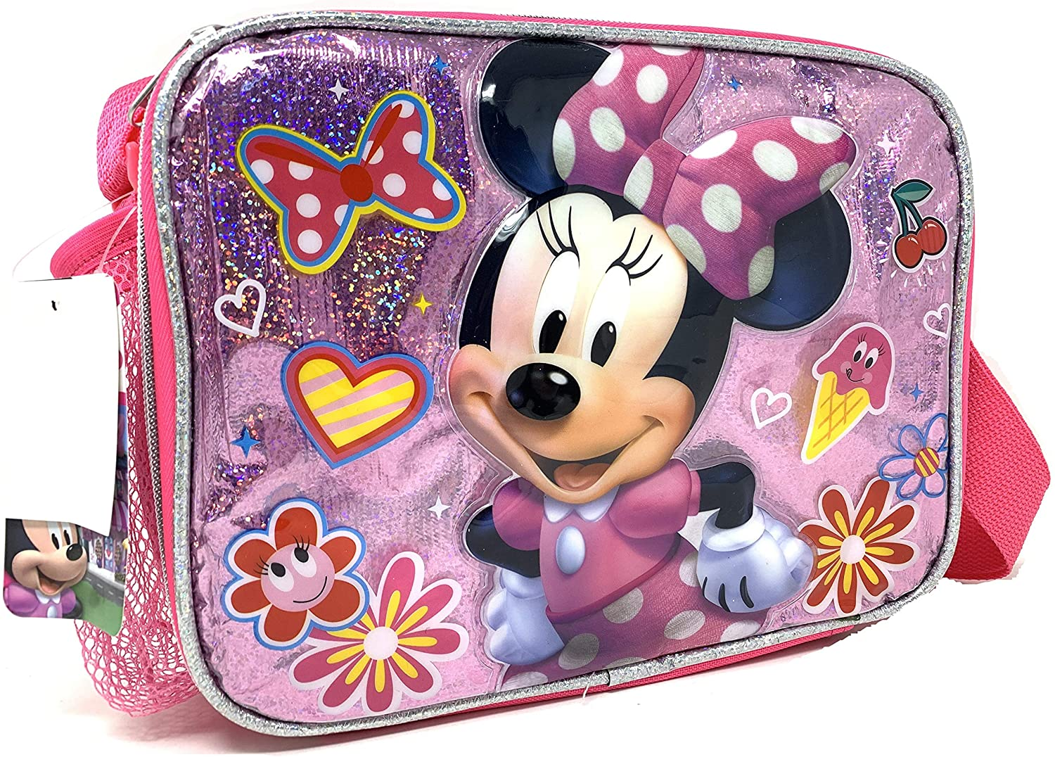 "Disney Minnie Mouse Insulated 9.5"" Lunch Bag with Shoulder Strap"
