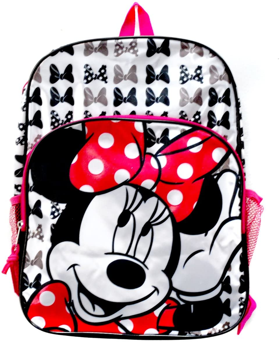 Disney Backpack Minnie Mouse Satin Canvas 16""