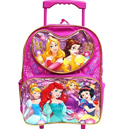 Disney Princess Heart Pocket 12 inches Toddler Rolling Backpack