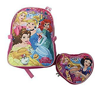 Disney Princess Large 16 Inch Backpack w/Lunch Bag