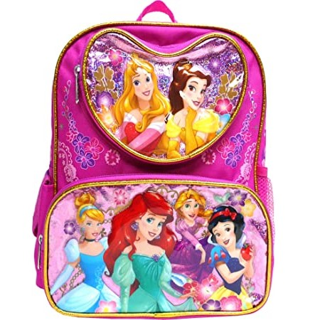 "Disney Princess Mermaid & Snow White 16"" Large Backpack"