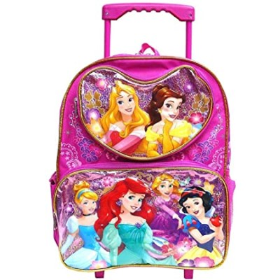 "Disney Princess 16"" Large Rolling Backpack"