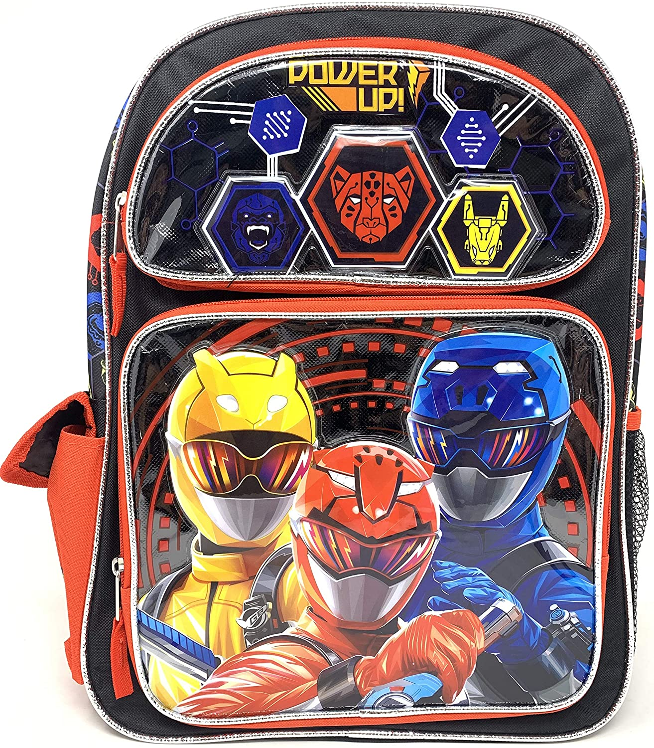 Saban's Power Rangers 16 inch Backpack with Side Pockets - Power