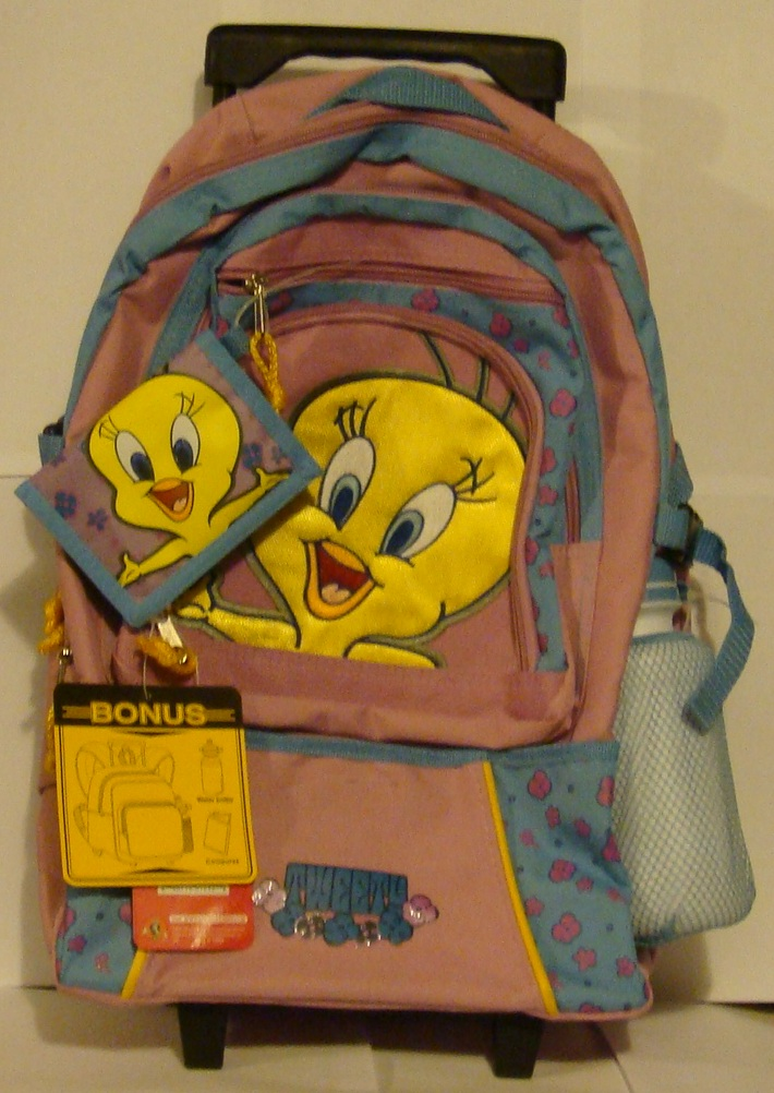 tweety large roller backpack(item#76cr01)