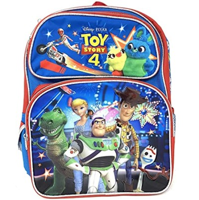 "Toy Story 4 16"" Canvas Blue School Backpack"