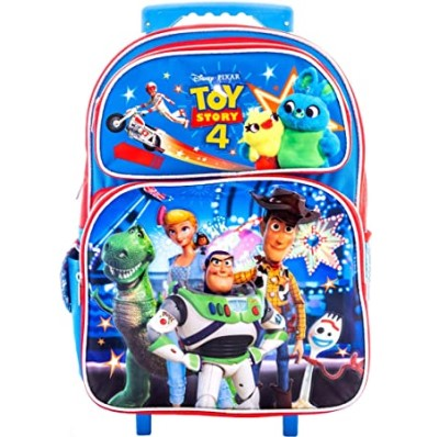 "Toy Story 4 Large 16"" Rolling School Backpack, Boy's Book Bag"