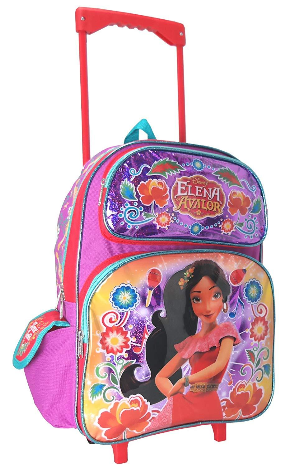 Princess Elena of Avalor 16 Inch Large Rolling Backpack